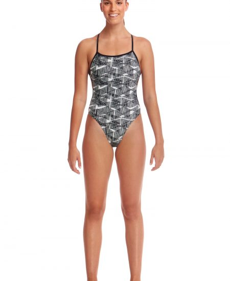 Ladies Funkita Bar Tack Twisted One Piece